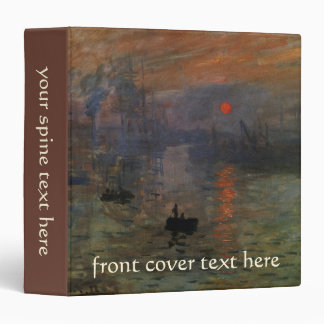 Impression Sunrise by Claude Monet, Vintage Art Binder