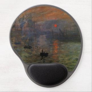 Impression Sunrise by Claude Monet, Vintage Art Gel Mouse Pad