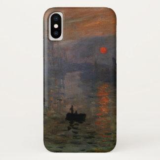 Impression Sunrise by Claude Monet, Vintage Art iPhone X Case