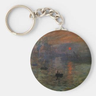 Impression Sunrise by Claude Monet, Vintage Art Keychain
