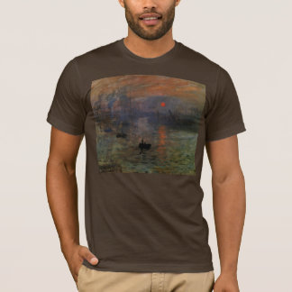 Impression Sunrise by Claude Monet, Vintage Art T-Shirt