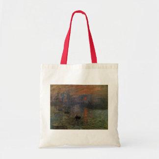 Impression Sunrise by Claude Monet, Vintage Art Tote Bag
