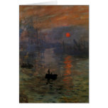 Impression, Sunrise by Monet Vintage Impressionism Greeting Card