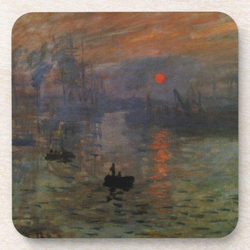Impression, Sunrise by Monet Vintage Impressionism Coasters