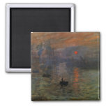 Impression, Sunrise by Monet Vintage Impressionism Refrigerator Magnets