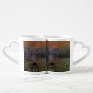 Impression, Sunrise by Monet Vintage Impressionism Couples' Coffee Mug Set