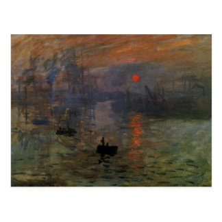 Impression, Sunrise by Monet Vintage Impressionism Post Cards