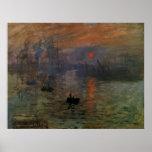 Impression, Sunrise by Monet Vintage Impressionism Poster
