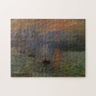 Impression, Sunrise by Monet Vintage Impressionism Puzzle