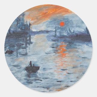 Impression, Sunrise Classic Round Sticker