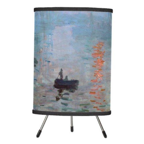 Impression Sunrise Claude Monet Tripod Lamp