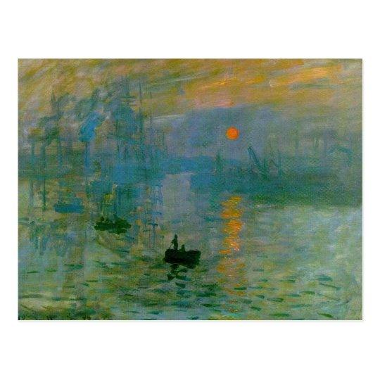 Impression, Sunrise Postcard