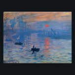 """Impression Sunrise Poster<br><div class=""""desc"""">&quot;Impression Sunrise&quot; is an attractive painting by French Impressionist painter,  Claude Monet. Completed in 1873,  this colorful painting features shades of blue and orange.</div>"""