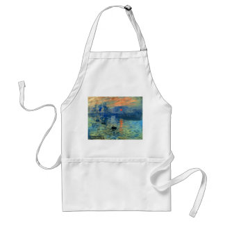 Impression Sunrise, Soleil Levant, Claude Monet Adult Apron
