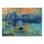 Impression Sunrise, Soleil Levant, Claude Monet Cards