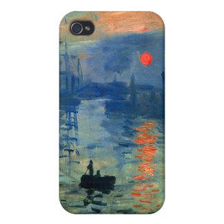 Impression Sunrise, Soleil Levant, Claude Monet Cover For iPhone 4