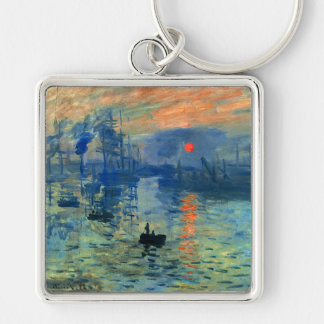 Impression Sunrise, Soleil Levant, Claude Monet Keychain