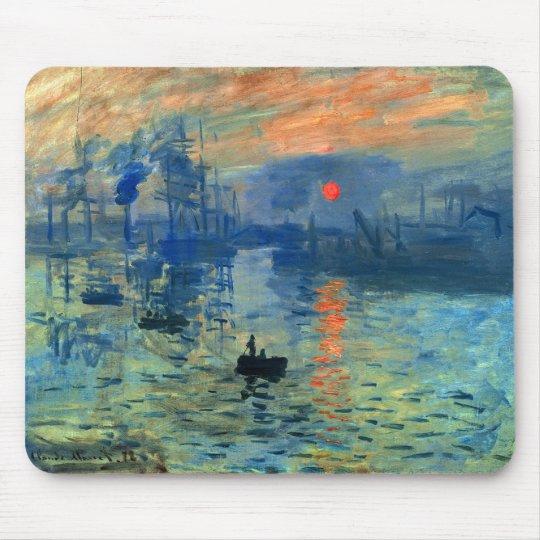 Impression Sunrise, Soleil Levant, Claude Monet Mouse Pad