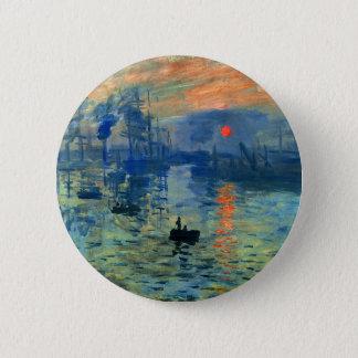 Impression Sunrise, Soleil Levant, Claude Monet Pinback Button