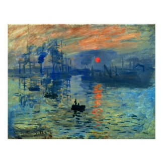 Impression Sunrise, Soleil Levant, Claude Monet Poster