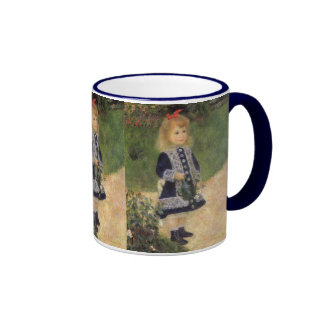 Impressionism, A Girl with Watering Can by Renoir Ringer Mug
