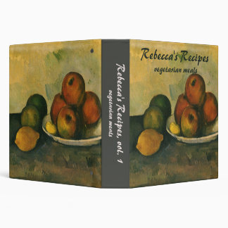 Impressionism Art, Still Life w Apples by Cezanne 3 Ring Binder