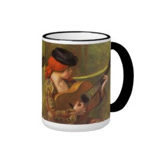 Impressionism Art, Young Spanish Woman by Renoir Ringer Coffee Mug