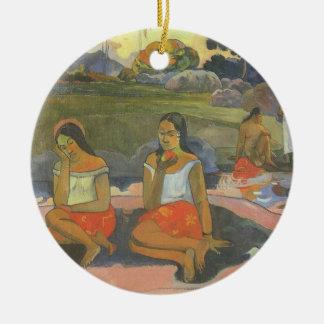Impressionism by Gauguin, Delightful Drowsiness Ceramic Ornament