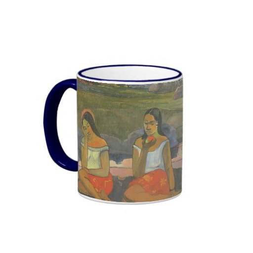 Impressionism by Gauguin, Delightful Drowsiness Ringer Coffee Mug