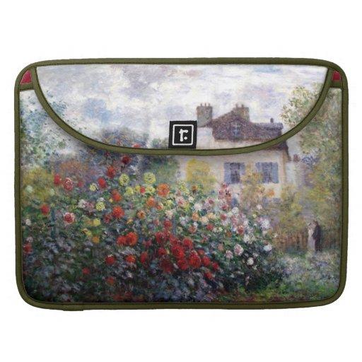 Impressionism Flower Garden Rickshaw Flap Sleeve Sleeve For MacBook Pro