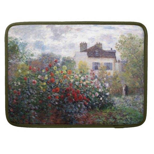 Impressionism Flower Garden Rickshaw Flap Sleeve Sleeves For MacBooks
