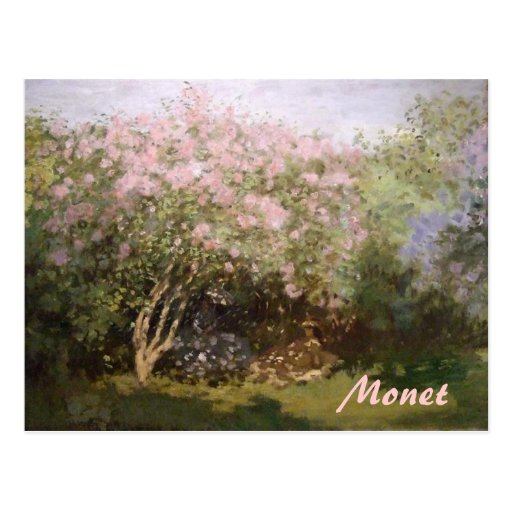 Impressionism Lilacs by Monet Postcard