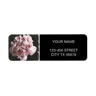 impressionism mother's day pink carnation label