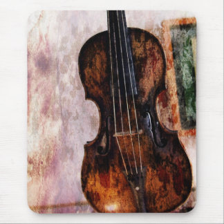 impressionism  musical instrument Fiddle Violin Mouse Pad