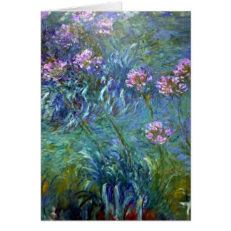 Impressionism Pink Flowers Card