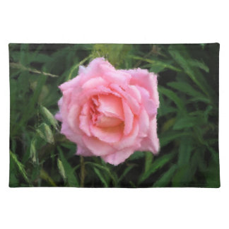 Impressionism Pink Rose Placemat
