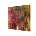 Impressionism Red Bougainvillea Flowers Gallery Wrapped Canvas