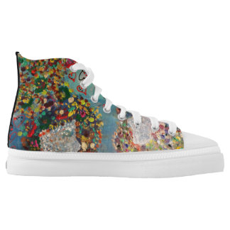 Impressionism style printed shoes