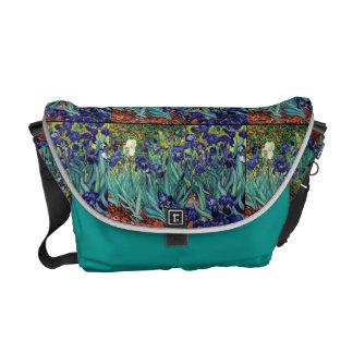 Impressionism Van Gogh Irises Flowers Floral Messenger Bag