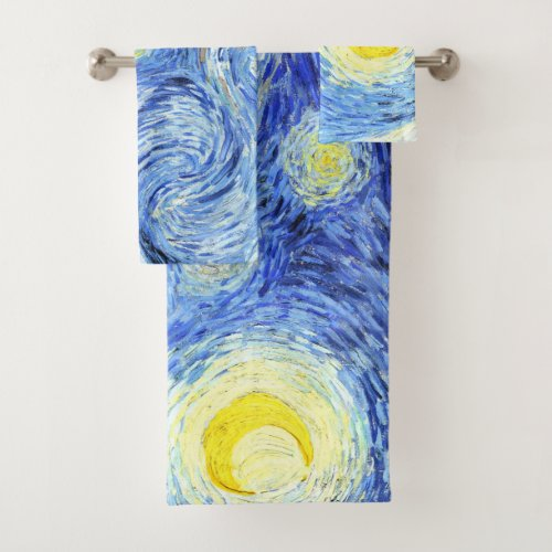 Impressionism Van Gogh Starry Night Bath Towel Set