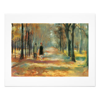 Impressionist art by Ury couple walking in woods Full Color Flyer