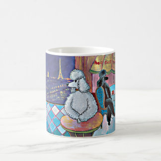 Impressionist Art Poodles Paris Cafe Mug Cup