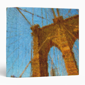 "Impressionist Brooklyn Bridge 1.5"" Photo Album 3 Ring Binder"