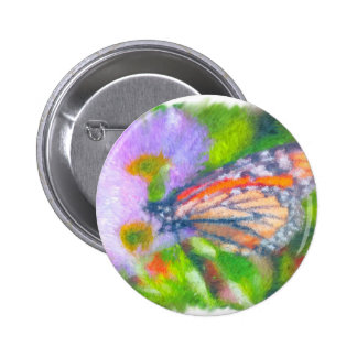 Impressionist Butterfly 2 Pinback Button