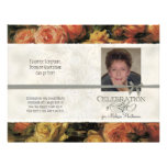 """Impressionist Coral Yellow Rose 2 Memorial Service 8.5"""" X 11"""" Flyer"""