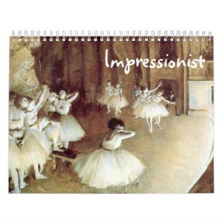 Impressionist Custom Printed Calendar
