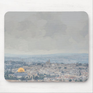 Impressionist Dome of the Rock Mouse Pad