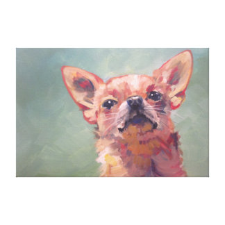 Impressionist Fine Art Chihuahua Gallery Wrap Canvas