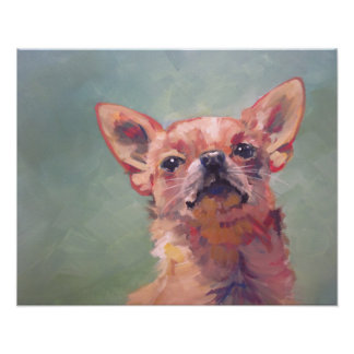 Impressionist Fine Art Chihuahua Painting Poster