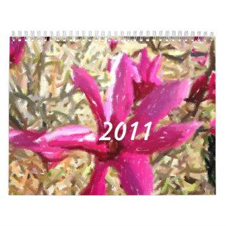Impressionist Flower Calendar 2011